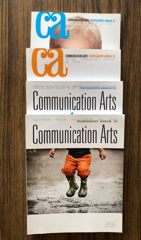 Communication Arts Photography Annual Lot Of 4 2011- 2014 52-55 Graphic Design