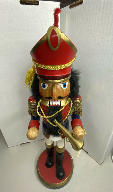Limited Edition Nutcracker Marching Band Trumpet Horn; 2007 Target - 14 in.