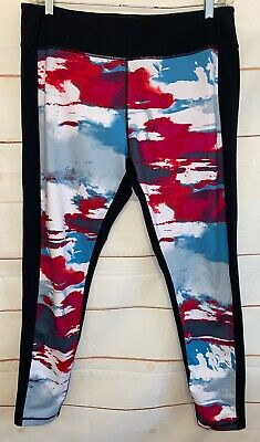Women's ZELLA Activewear Leggings Athletic Pants Black & Multi-Colored 2XL XXL