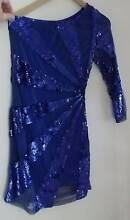 Coco Luxe sunray design sequinned 1 shoulder blue cocktail dress Cheltenham Hornsby Area Preview
