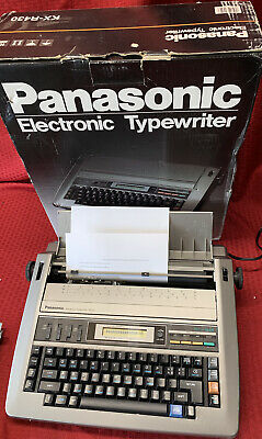 Word Processor Panasonic Model Kx-r430 Electric Typewriter W New Ink