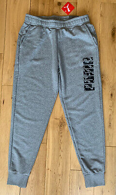Puma Joggers Pants Grey Large Regular Fit