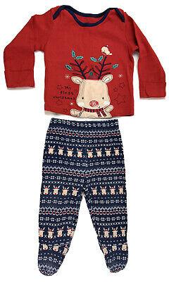tmas Pyjamas 6-9 Months Mittens Reindeer Covers Feet Cotton (Baby Girl Christmas Pyjamas)