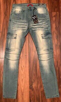 Versace V1969 Studio De Vestiti Eleganti Slim Fit Jeans 34 x 32 V9D047 New