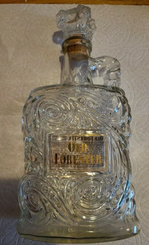 Vintage Old Forester Kentucky Whiskey Bourbon Decanter Bottle 1950