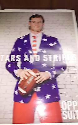 Oppo Suit Stars & Stripes Costume Outfit USA Flag Uncle Sam Jacket Tie & Pants