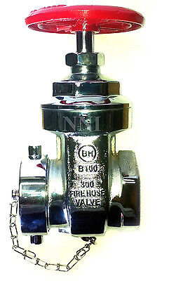 2-12 Nst Nh Fire Hydrant Gate Valve 300psi With Cap Chain Polished Chrome