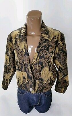 PAINTED PONY BLAZER JACKET LION GIRAFFE ELEPHANT M L Lions Ladies Paint