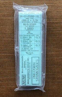 Vishay Micro-measurements Strain Gauge Ek-03-250rd-10c 5 Pack Option Se Gage