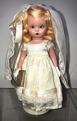 "5.5"" Vintage Nancy Ann Storybook Hard Plastic Communion Catholic Girl Bible"
