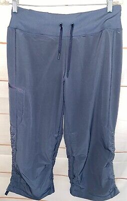 Women's ZELLA Cropped Athletic Capri Activewear Pants Bottoms Gray Size 8 GUC