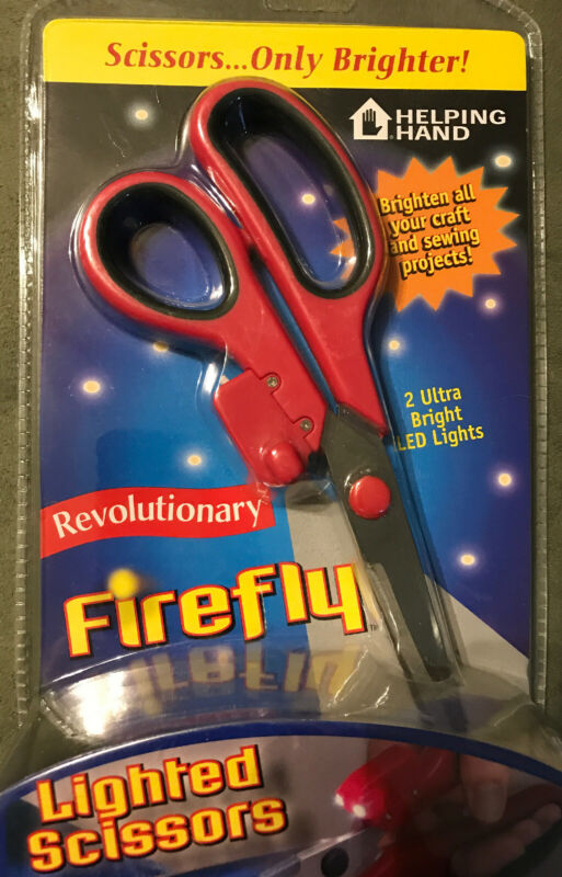 New Lighted Firefly Scissors Craft Sewing Ultra Bright LED Lights