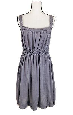 Free People Women's Sz Large Sleeveless Open Back Drawstring waist Summer Dress