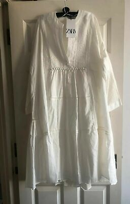 ZARA WOMAN NWT SS20 SALE! EMBROIDERED VOLUMINOUS DRESS ALL SIZES 6895/045
