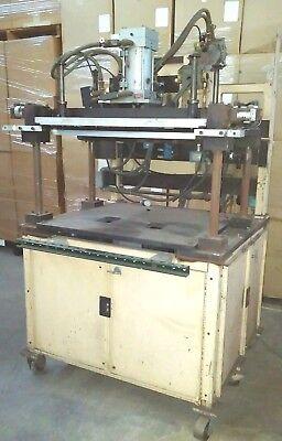 Custom Pneumatic Press 2.5 Ton X 30 X 16 Fixturing Table 4 Post Rotating Top