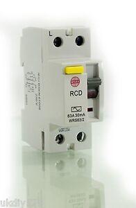 Wylex RCD 63A 30mA RCD WRS63/2 230V 2 Pole