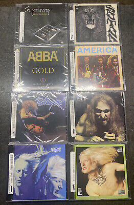 (Lot Of 8) 70's Rock CDs: Santana, Abba, Supertramp, Etc. SEALED