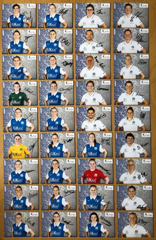36 Ak Sv Meppen Women Autograph Cards 2020-21 Original Autographed