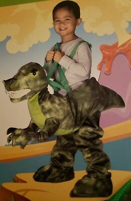 Halloween Costume Green T-Rex Dino Rider 3T/4T Toddler NEW - Dino Rider Costume
