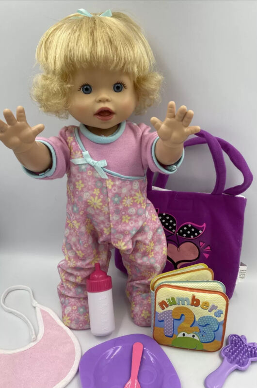 Fisher Price Little Mommy Walk & Giggle Interactive Baby Doll w Accessories
