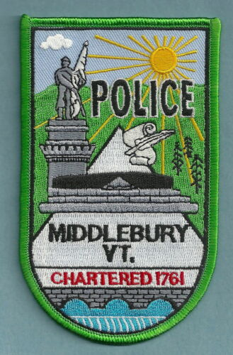MIDDLEBURY VERMONT POLICE SHOULDER PATCH