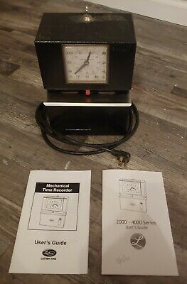 Lathem Model 3001 Time Clock With Key And Manuals Great Working Condition