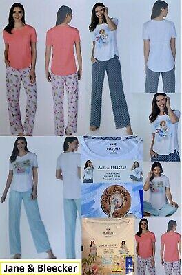 ladies Girls pyjamas nightwear full set, cotton rich top and bottoms sleepwear