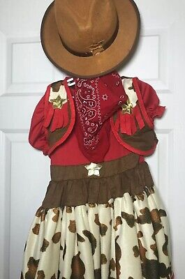 Pottery Barn Kids Halloween costume Cow Girl Cowgirl Western 4-6 4 5 6
