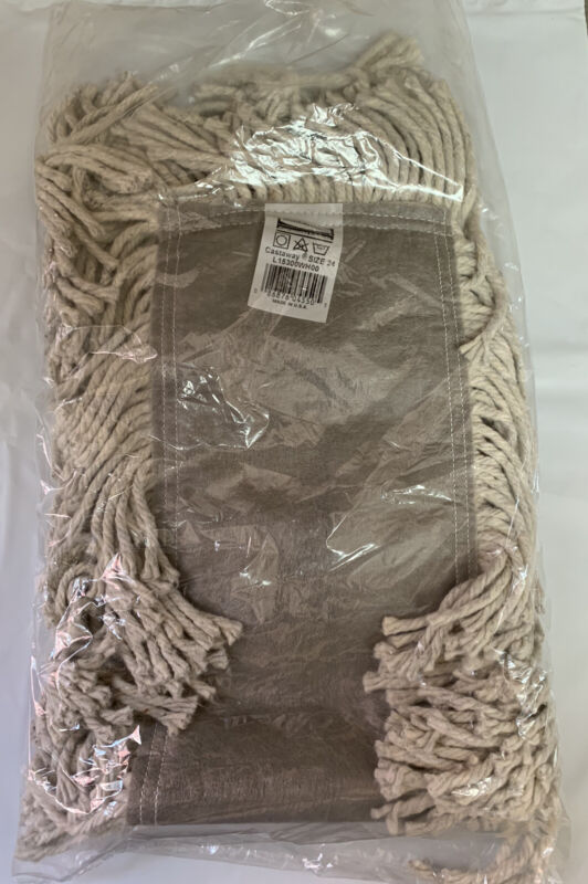 """Rubbermaid 24"""" X 5"""" Castaway Cotton/Synthetic Dust Mop Cleaning L15300WH00 NIP"""