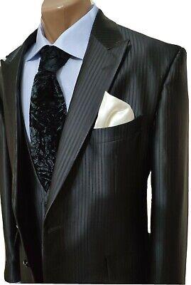 Luxury CARLO PIGNATELLI CEREMONIA Pinstripe Groom Wedding Ceremony 3 pcs Suit 56