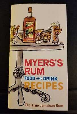 Vtg Myers Jamaica Rum Food & Drink Recipes 1960s Cocktails Barware mixer booklet](Rum Drink Recipe)