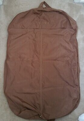 GUCCI garment bag bronze gold clothes travel suit dress jacket luggage large nr