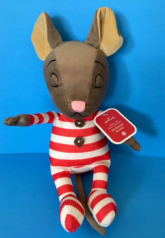 "Hallmark Twas Night Before Christmas Mouse PJs 11"" Plush Stuffed Animal - Cute!!"