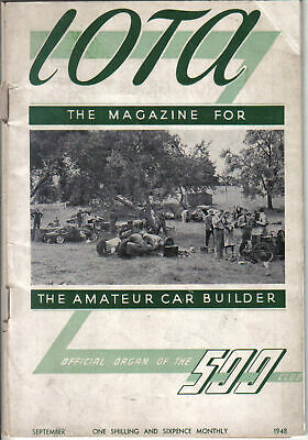 IOTA 500cc Racing Club Magazine September 1948 Official Organ of the 500 Club