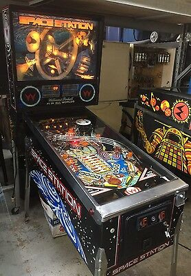 Space Station Williams Pinball Machine 1987 Coin Op