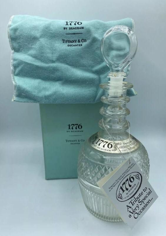 Vintage Tiffany & Co 1776 Seagram Decanter Original Box & Cloth