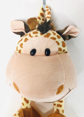 Wall Hanging Plush Giraffe With Two Pockets 21 Babies Girls Boys  - $12.00