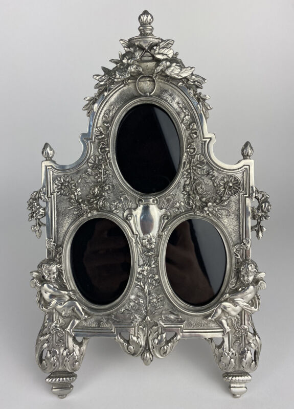 1790 Italian Mannerist Triple Frame Picture Frame by Elias Artmetal