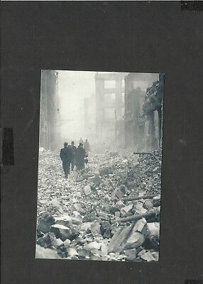 Nostalgia Postcard  thousand of incendiary bombs rained on london December 1940