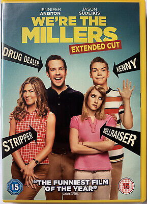 WE'RE THE MILLERS, Extended Cut! 🎬 Dvd 📀 2013, Jennifer Aniston & Jason Sudeis