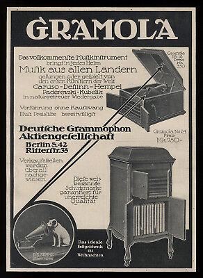 Alte grosse Reklame Werbung 1911 Gramola (3) Deutsche Grammophon Gesellschaft
