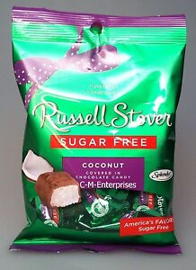 Russell Stover Sugar Free Coconut Covered in Chocolate Candy 3 oz