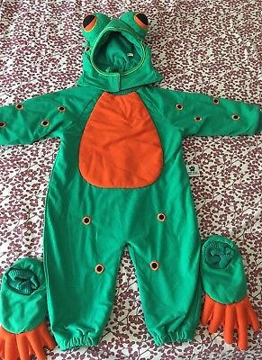 Tom Arma Frog Costume 18 Mo 2T 18-24 Halloween Green Hood Feet 3 piece