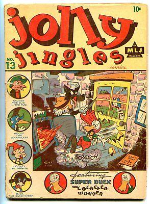 Jolly Jingles #13 1944- Super Duck- Black Hood- Woody the Woodpecker