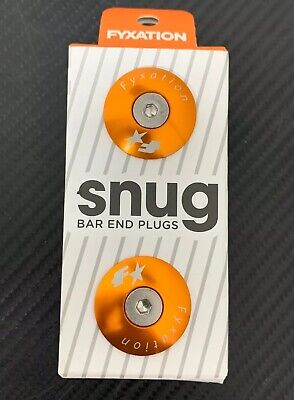 Fyxation Snug Bar End Plugs Bike Handlebar End Caps, Orange, Fits Most *NEW/FAST Fits Most Cruisers