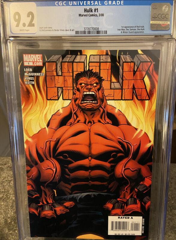 Hulk #1 CGC 9.2 First Appearance Of Red Hulk 🔥🔥🔑
