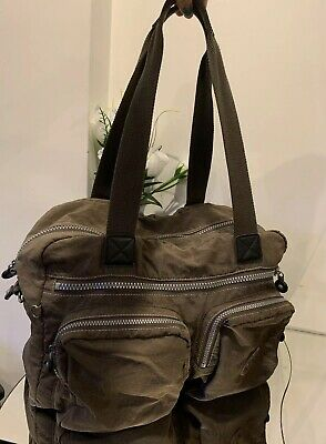 KIPLING BROWN TRAVEL WEEKEND HOLDALL BAG