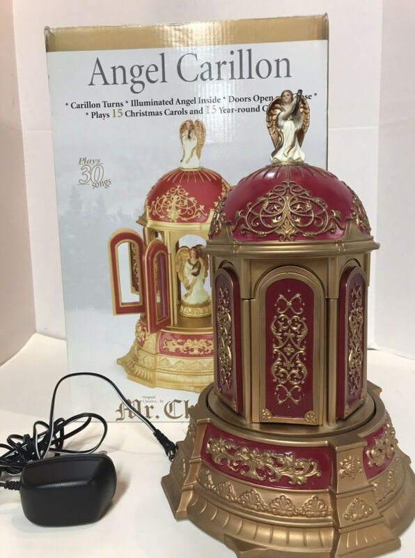 Mr. Christmas Angel Carillon Animated Musical 2006 30 Songs Red/ Gold