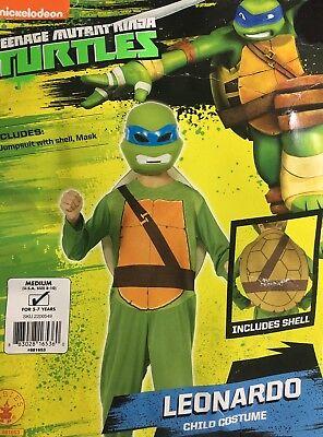 Teenage Mutant Ninja Turtles Leonardo Costume Suit Shell Mask Childs Medium 8-10 (Teenage Mutant Ninja Turtles Kostüm Shell)