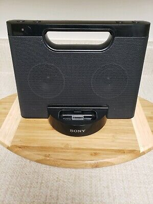 Sony Portable Speaker - RDP-M5iP Docking Station. iPod iPhone 30-pin Black Portable Docking Station Speaker